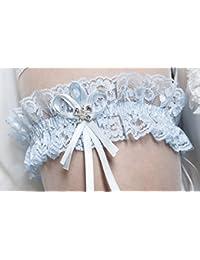 """Liga elástica de """"Must Have"""" a la boda de con cristales en forma de mariposa - BLANCO - MARFIL - AZUL"""