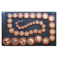 42 x Tampons Soundman® pour Saxophone Alto en cuir Lot de 42 tampons saxo alto Résonateurs en Métal Universel