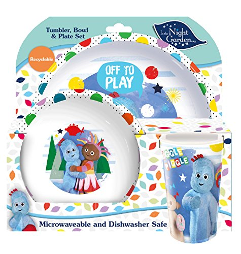Spearmark Gobelet « in The Night Garden » Service de Table avec Bol, Assiette et Verre Multicolore 20,7 x 20,7 x 11,2 cm