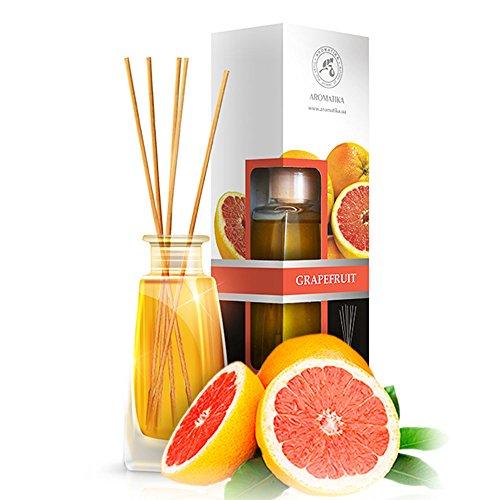 Diffusore profumato per ambiente pompelmo 100ml - con 8 bastoncini di bambù - naturale olio essenziale grapefruit - fragranza intensa e duratura - senza alcool - aromatizzatore d'aria per interni