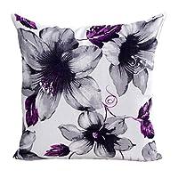 "Winkey Square Throw Pillow Case, Newest Design Flowers Pattern Sofa Bed Home Decor Pillow Case Cushion Cover 45cm*45cm/18*18"" (Purple)"