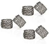 from ITOS365 Handmade Round Mesh Napkin Rings Holder for Dinning Table Parties Everyday, Set of 6