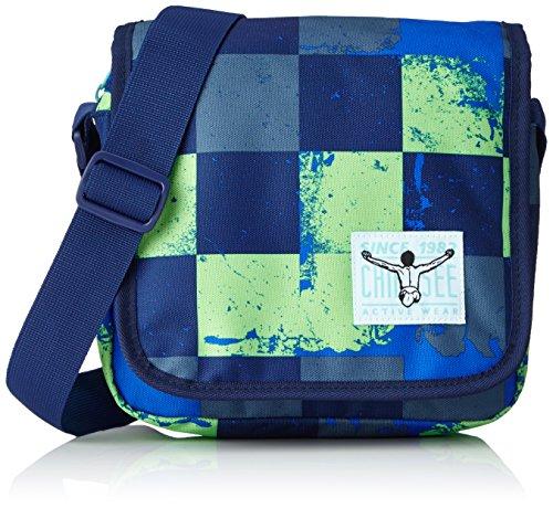Chiemsee Unisex-Erwachsene Easy Shoulderbag Plus Umhängetasche, 8x20x21 cm Grün (Swirl Checks)