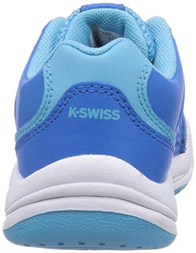 K-Swiss Performance KS TFW ULTRASCENDOR OMNI JR-BLUASTR/BCHLRB/WH-M, Baskets de tennis fille Multicolore - Mehrfarbig (BLUEASTER/BACHELORBUTTON/WHITE)