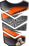 Motorrad Gas Displayschutzfolie Aufkleber/3D Gummi Fuel Tank Pad Tankpad Displayschutzfolie Aufkleber für Honda KTM 1050 1090 1190 1290 Adventure AdventureR R Adventure-R (Weiß/Schwarz/Orange 4)