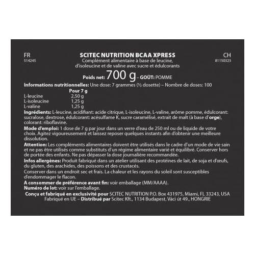 51xJ c6jvcL. SS500  - SCITEC Nutrition BCAA Xpress - 700 gr Apple