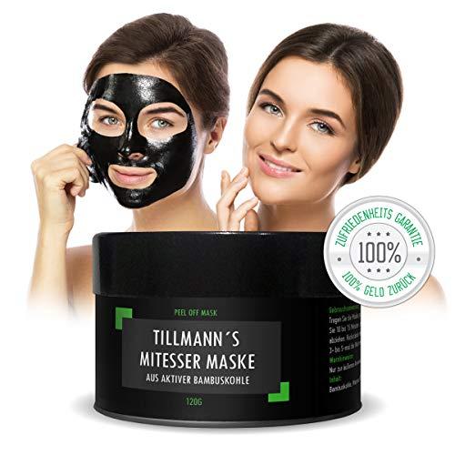 Mitesser Maske Schwarz Mitessermaske aus natürlicher Bambuskohle Black Head Blackhead Peel Reinigungsmaske tiefenreinigende Peel Off schwarze Gesichtsmaske von Tillmann's Deutschland®