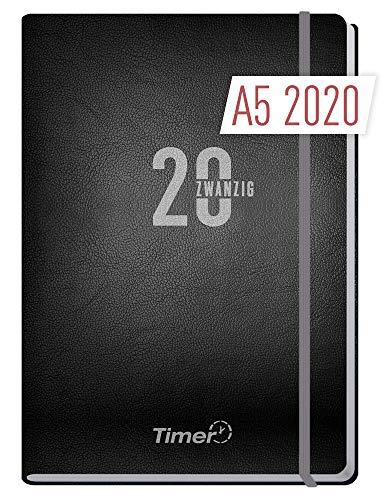 Chäff-Timer Premium A5 Kalender 2020 [Silber] Terminplaner 12 Monate | Terminkalender, Wochenplaner, Wochenkalender, Organizer mit Gummiband und Einstecktasche (Monats-und Wochenplaner)