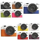 10 Farbe! Echte Handgemachte Hartledertasche Kamera Leder Hälfte Case Tasche Hülle für Canon EOS M2 (Bitte hinterlassen Sie eine Nachricht, welche Farbe Sie bevorzugen)