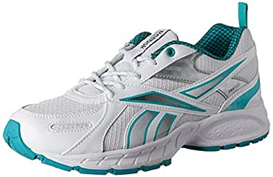 Reebok Women's Acciomax White,Blue and Silver Running Shoes - 9.5 UK