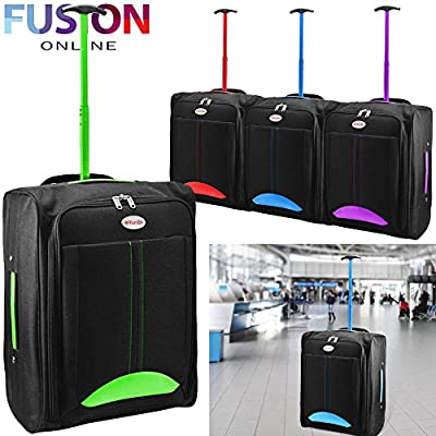 Cabin Travel Bag Wheeled Lightweight Suitcase Hand Luggage Trolley Holdall New Fusion(tm)