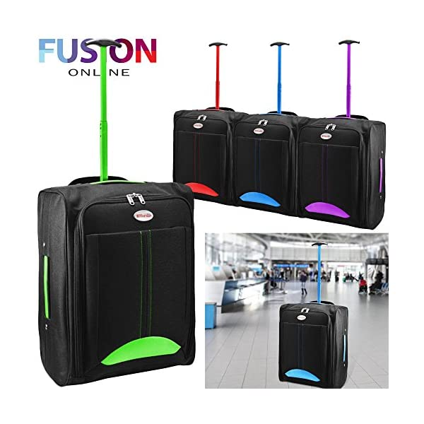 a0880b91b815 CABIN TRAVEL BAG WHEELED LIGHTWEIGHT SUITCASE HAND LUGGAGE TROLLEY HOLDALL  NEW FUSION(TM)