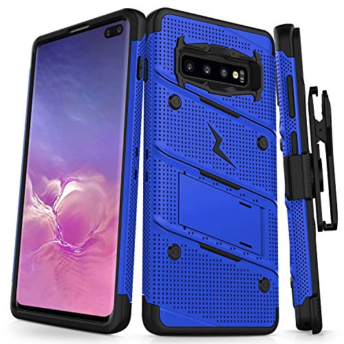 Plus Körper (Zizo Bolt Series Samsung Galaxy S10 Plus Case (Blue))