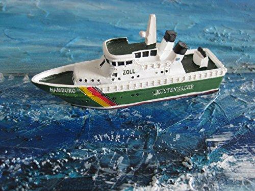 9. Küstenwache (Schiffsmodell MS Küstenwache Zoll Miniatur Boot Schiff ca. 9 cm Zollboot Hamburg)