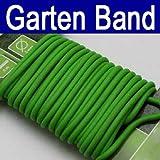 Gartenband gummiert 5 m, Garten Haushalt Pflanzen Gummi Draht Band Schnur, grün (LHS)