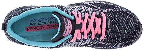 Skechers - Synergy - Arctic Winter, Scarpe tecniche Donna Blu (Nvmt Marine/Multicolor)