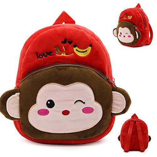 SWVV Boy and Girl Unisex Anime Cartoon Anime 1-3 Years Old Children Backpack Plush Toy Park Backpack I