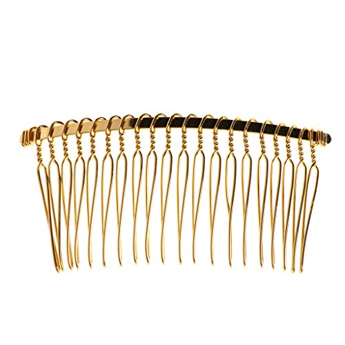 ECMQS DIY Blank Metal Hair Clips Wedding Veil Side Comb 20 Zähne Bridal Hair Zubehör
