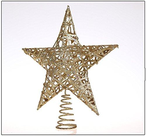 jysport-dcoration-arbre-de-nol-top-star-finition-boules-de-nol-paillettes-20cm-iron-star-20-cm
