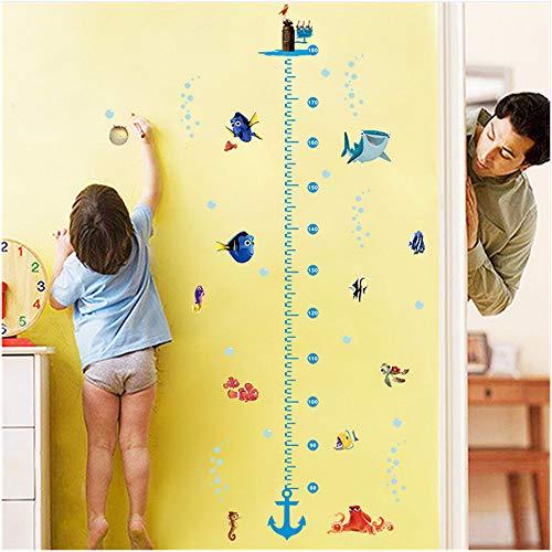 Shuyinju Unterwasser Welt Wachstum Diagramm Höhe Maßnahme Wand Aufkleber Aufkleber Findet Nemo Fisch Anker Für Kinderzimmer Kinderzimmer Dekor