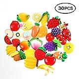 Leegoal Schleim-Charms, gemischte Harz-Obstperlen, verschiedene Farben und Formen, zum Basteln, Scrapbooking, 30 Stück