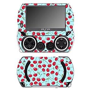 Disagu SF-14232_1076 Design Folie für Sony PSP Go – Motiv Kirschen blau transparent
