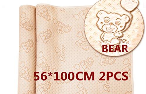 Cambiador impermeable transpirable absorbente de orina cambiador de pañales, lavable para colchón...