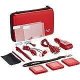 Nintendo 3DS XL 12-in-1 Travel Pack / Tasche, Etui, Displayschutzfolie, Kfz-Ladegerät: Rot (Nintendo 3DS XL)