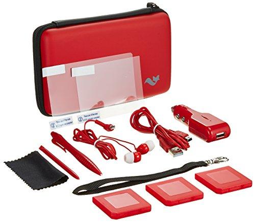 Nintendo 3DS XL 12-in-1 Travel Pack / Tasche, Etui, Displayschutzfolie, Kfz-Ladegerät: Rot (Nintendo 3DS XL) -
