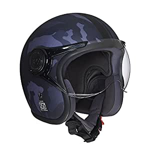 Royal Enfield Grey Open Face with Visor Helmet Size (XL)62 CM (RRGHEH000015)