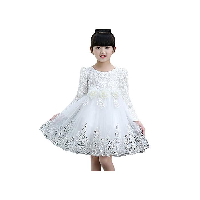 Yying Mädchen Tutu Kleider - Prinzessin Kleider Blumenkleid Spitze Kleider Pailletten Kleid Party Hochzeit Festivals…