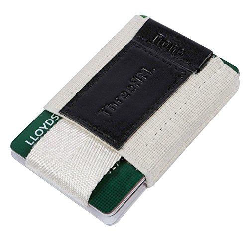 threeam-small-minimalist-slim-wallet-front-pocket-card-holder-for-men-women-white