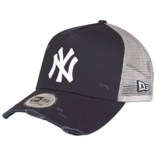 New Era MLB Distressed Trucker Adjustable Cap NY Yankees Dunkelblau, Size:ONE Size