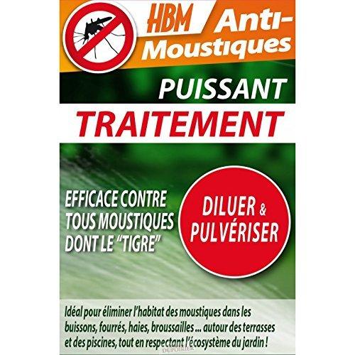 HBM Anti-Moustiques 001-DS-RAC008 Traitement Pulvérisation Anti-Moustique 100 ml