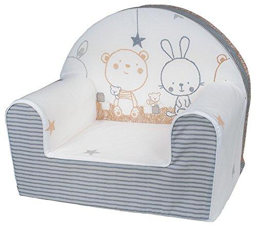 Bubaba - Kindersessel in 12 Motiven, EU Produkt, formstabiler Schaumsoff - extra leicht nur 1kg, Model:Bunny and Teddy