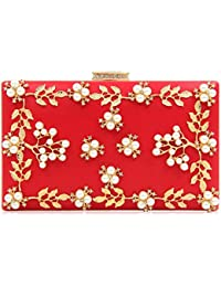 Red Women Clutch Embroidery Bags Ladies Beaded Diamond Wedding Clutches Party Bag Fashion Female Wedding Bag Party...