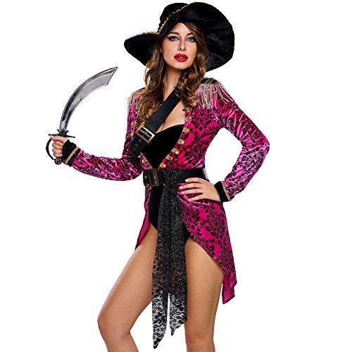 MTSBW Halloween Pirate Sailor Kostüme 6 Stück Bühne Charakter Performance Party,M