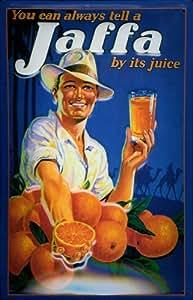 Plaque de orange jaffa panneau d'indication ou de jus d'orange
