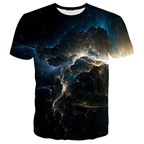 LAIDIPAS Unisex 3D Muster Gedruckte Beiläufige Kurze Hülsen-T-Shirts T-Stücke Style 16