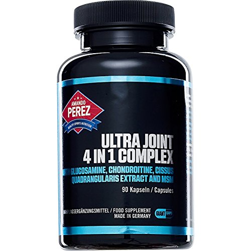 Ultra Joint 4-in-1 Complex - Glucosamin - Chondroitin - Cissus Quadrangularis - MSM - 90 Giant Kapseln - Made in Germany