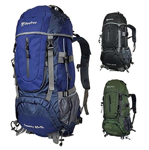 c4a0b6b2a21da Beefree Outdoor Frontlader Klettern Wandern Trekking Reisen Rucksack  Wasserdicht Groß 70L Rucksack (70L Blau)