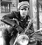 Noble House Herren Lederjacke Motorradjacke Rockabilly Rindsleder braun Marlon Brando Jacke - 2
