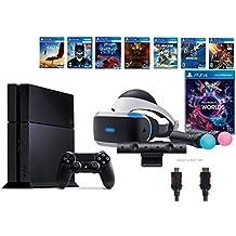 PlayStation VR Launch Bundle 9 Items:VR Launch Bundle,PlayStation 4,7VR Game Disc PSVR Rush of Blood,PSVR Valkyrie,Battlezone,Batman: Arkham VR, PSVR DriveClub,Eagle Flight,Comb(Version US, Importée)