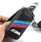 Unbekannt Carbon Fiber Leder Schlüsseletui Tasche für BMW///M Emblem Key Case (BMW//M)