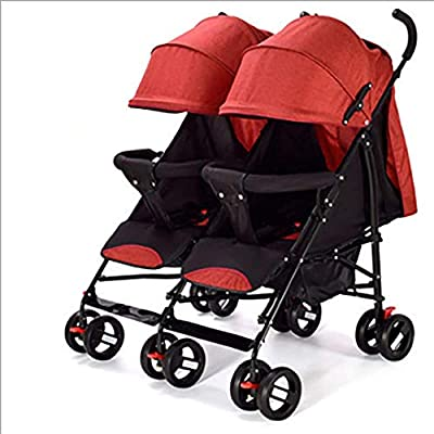 El cochecito doble recién nacido, el cochecito gemelo puede sentarse acostado el paraguas del cochecito recién nacido plegable ultra ligero portátil