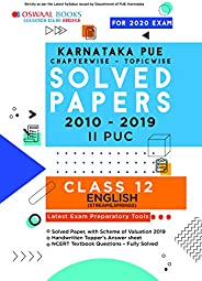 Oswaal Karnataka PUE Solved Papers II PUC English Book Chapterwise & Topicwise (For March 2020 E