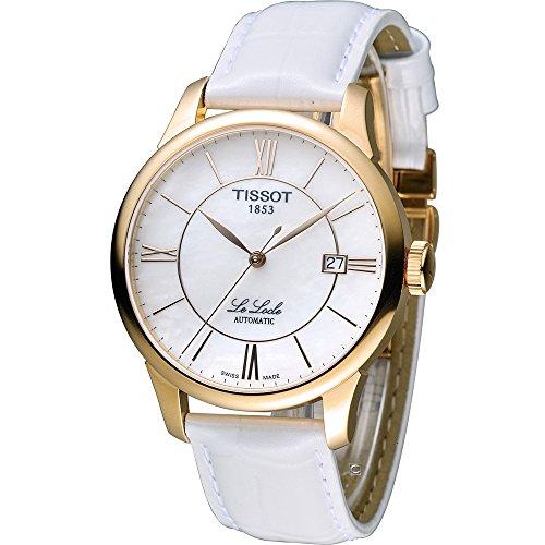 TISSOT - Montre Mixte Tissot Le Locle Automatique T41645383 Bracelet Cuir Blanc - T41645383