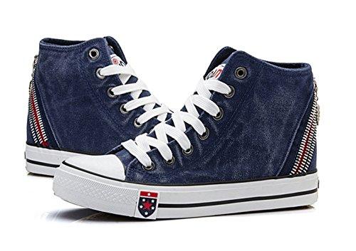 XTIAN - Pantofole a Stivaletto Donna Dunkelblau