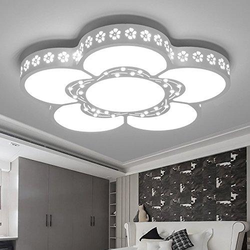 Lilamins Minimalista moderno cálida luz LED Lámpara de techo Floral atmosférica creativo Habitaciones Habitación de matrimonio lámparas para la Sala de estar, baño, dormitorio y comedor,Led Luces de techo,60cm46W luz blanca