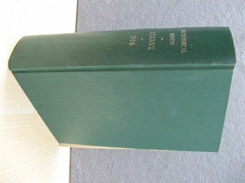 The Philosophical Review: Volume LXXXVII: 1978